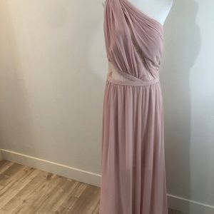 NWT Laundry Mauve Greek Goddess Lace One Shoulder